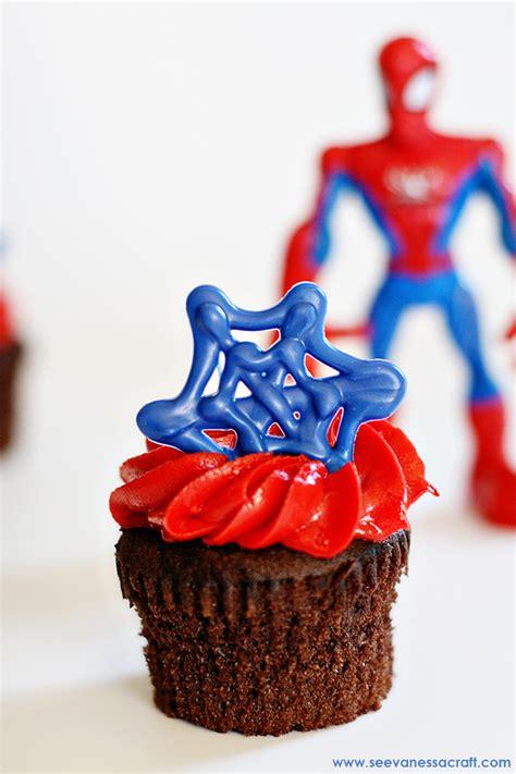 Craft Spider Man Cupcake Toppers See Vanessa Craft