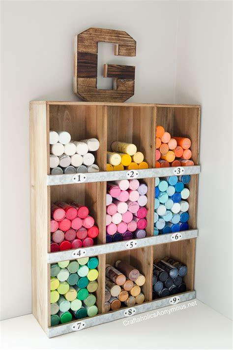 Craftaholics Anonymous Craft Paint Storage Ideas