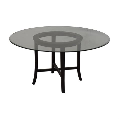 Crate Barrel Crate Barrel Halo Ebony Round Dining Table