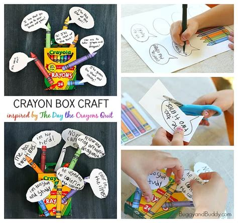 Crayon Box Craft Inspired by The Day the Crayons Quit