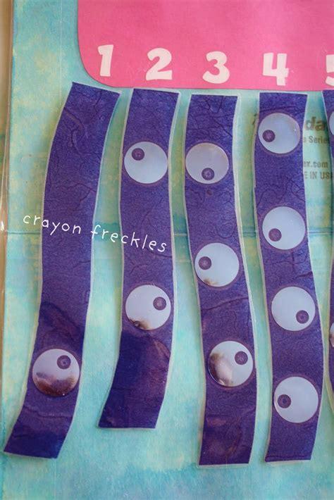 Crayon Freckles octopus math file folder game