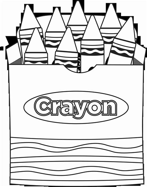 Crayons Coloring Page TheColor
