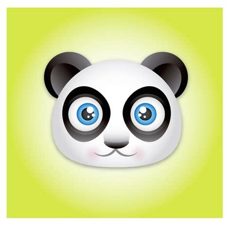 Create a Cute Panda Bear Face Icon Vectips