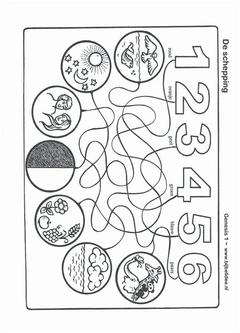Creation Coloring Pages Bible Story Printables