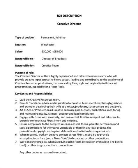 Creative Director Job Description Duties and Salary