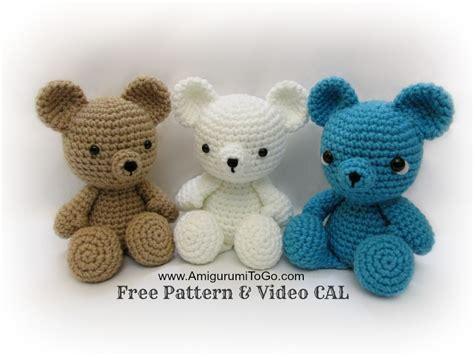 Crochet Teddy Bear Written Pattern and Video Amigurumi To Go