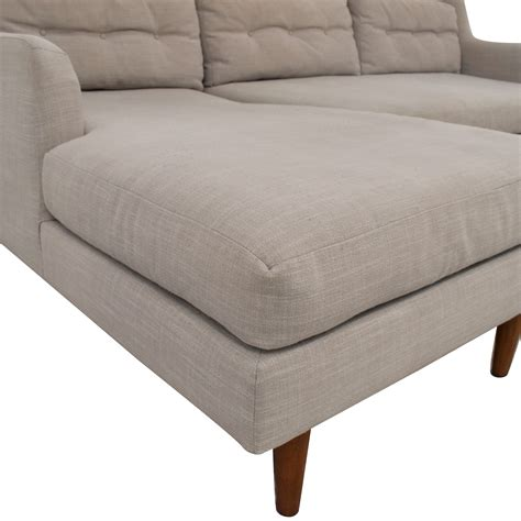 Crosby Mid Century 2 Piece Chaise Sectional west elm