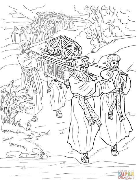 Crossing the Jordan River Coloring Page MINISTRY TO CHILDREN