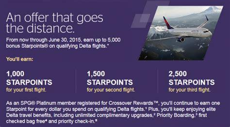 Crossover Rewards SPG Landing Profile Delta Air Lines