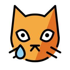 Crying Cat Face Emoji Emojipedia