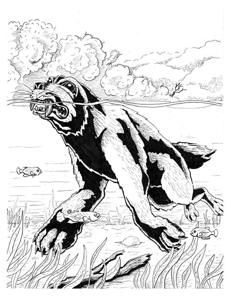 Cryptids Online Coloring Pages Page 1