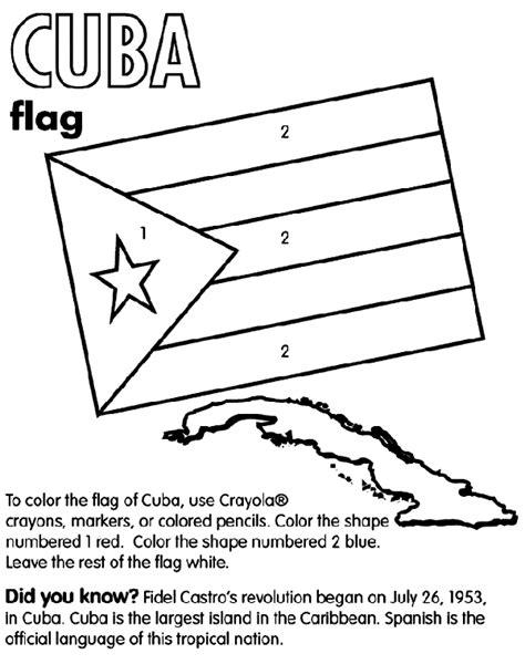 Cuba Coloring Page crayola