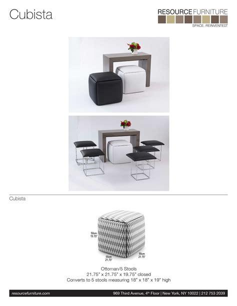 Cubista Resource Furniture Nesting Ottoman