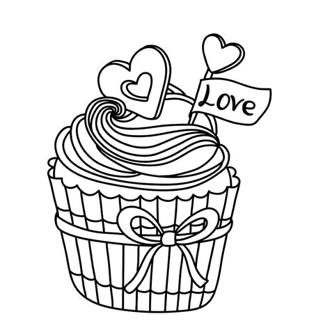 Cupcake Coloring Pages All Things Cupcake