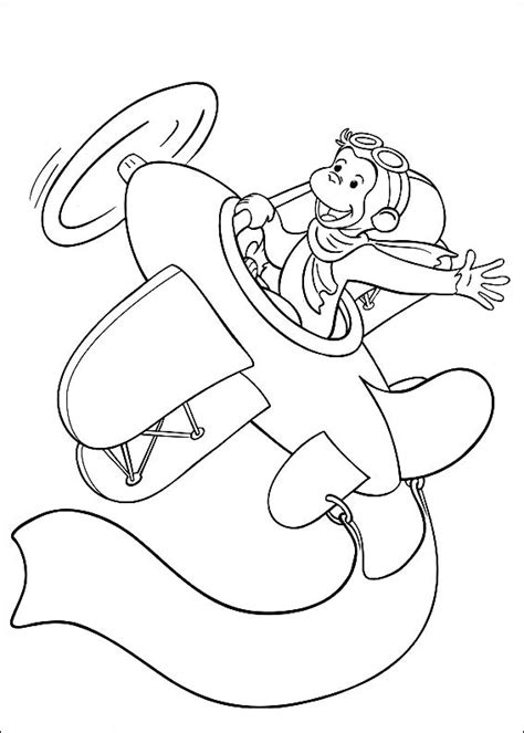 Curious George Coloring Pages Curious George