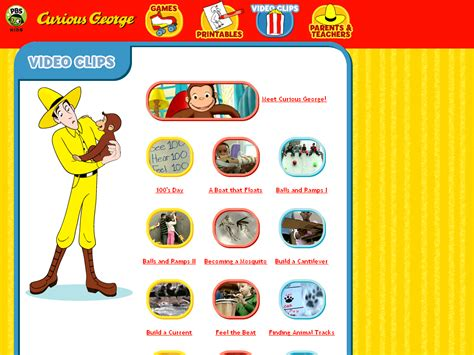 Curious George Video Clips PBS KIDS