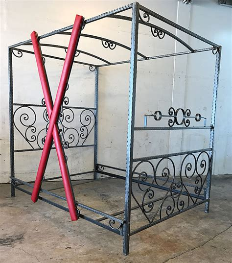 Custom Scroll Bed with Removable Red Cross MetalBound