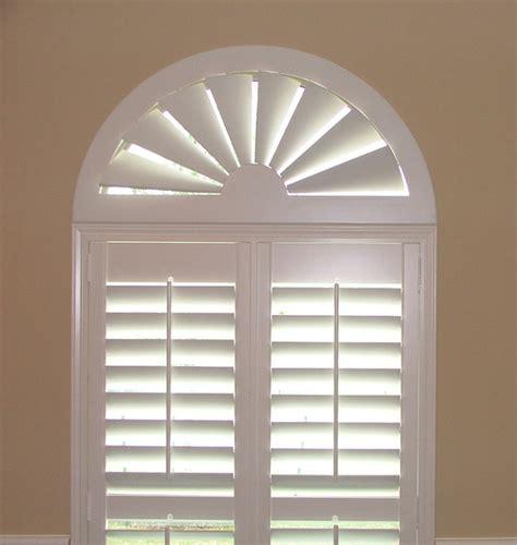 Custom Wood Window Arch Blinds