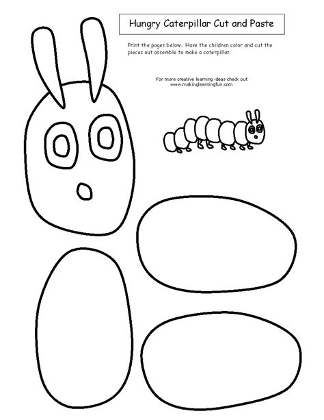 Cut and Paste Hungry Caterpillar