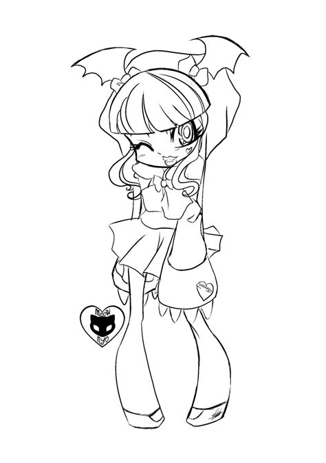 Cute Anime Coloring Pages to Print Coloring Page for Kids