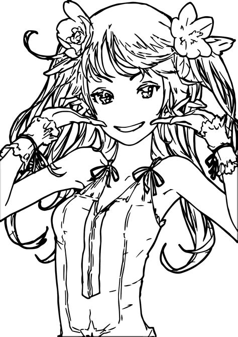 Cute Anime Girl Coloring Pages 622 Bestofcoloring