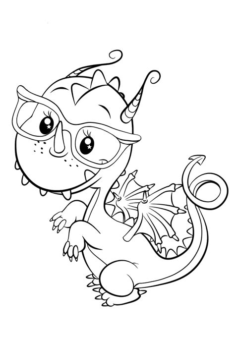 Cute Dragon Coloring Pages GetColoringPages