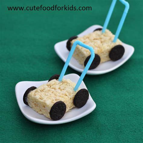 Cute Food For Kids Rice Krispies Lawn Mowers