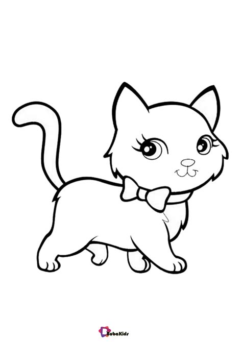 Cute Little Kitten coloring page Free Printable Coloring