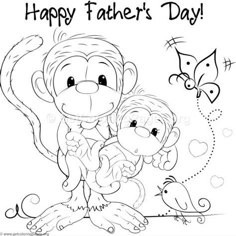 Cute Monkeys Coloring Pages GetColoringPages