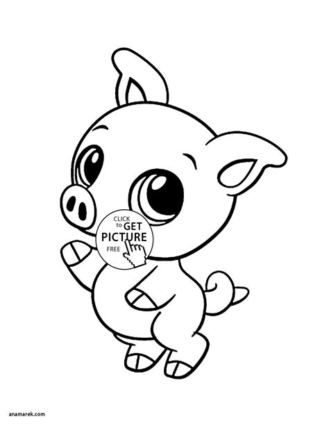 Cute Piglet coloring page Free Printable Coloring Pages