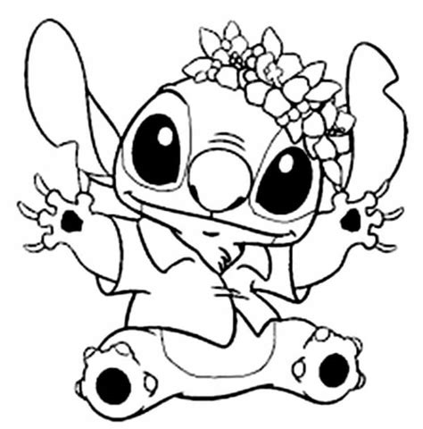 Cute Stitch coloring page Free Printable Coloring Pages