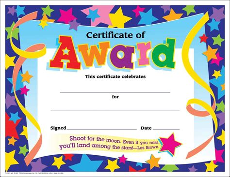 Cute printable certificate templates award templates to