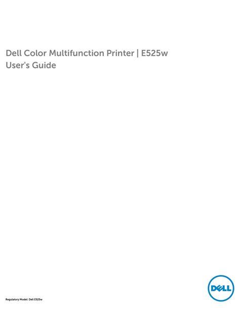 DELL E525W USER MANUAL Pdf Download
