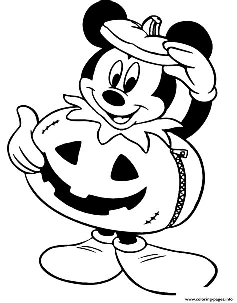 DISNEY HALLOWEEN COLORING Pages Free Download Printable