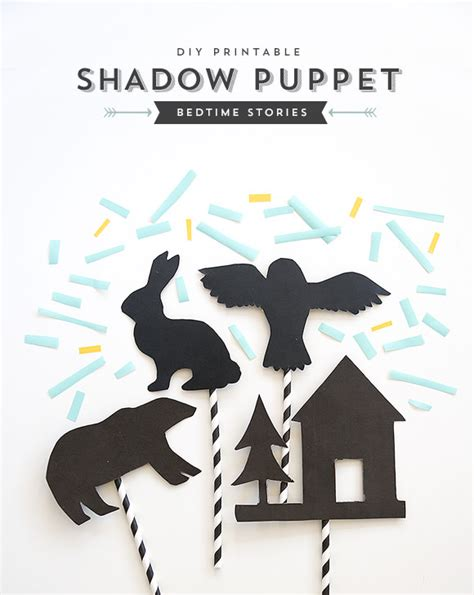 DIY Bedtime Story Shadow Puppets Handmade Charlotte