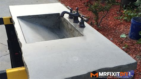 DIY CONCRETE SINK Part 1 of 2 YouTube