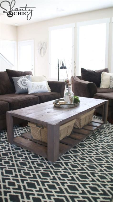 DIY Crate Coffee Table on Wheels Shanty 2 Chic