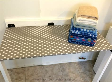 DIY Drop Down Laundry Table Riverton Housewives