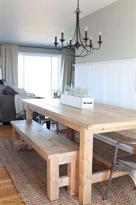 DIY Farmhouse Table Love Grows Wild