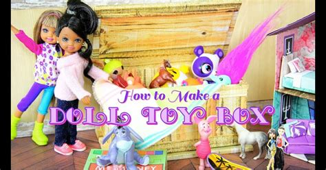 DIY How to Make Doll Toy Box Tack Box Coffee Table Trunk Handmade Doll Crafts