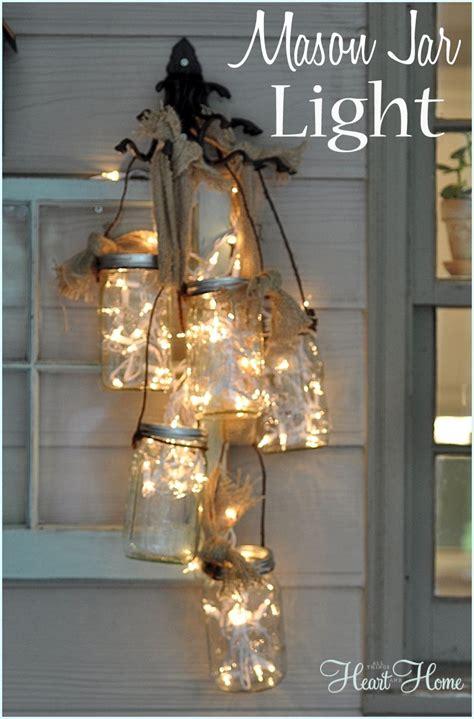 DIY Mason Jar Light All Things Heart and Home