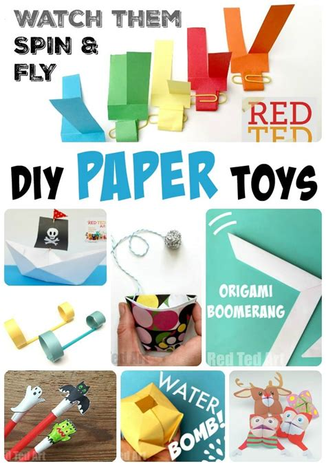 DIY Paper Toys Red Ted Art s Blog