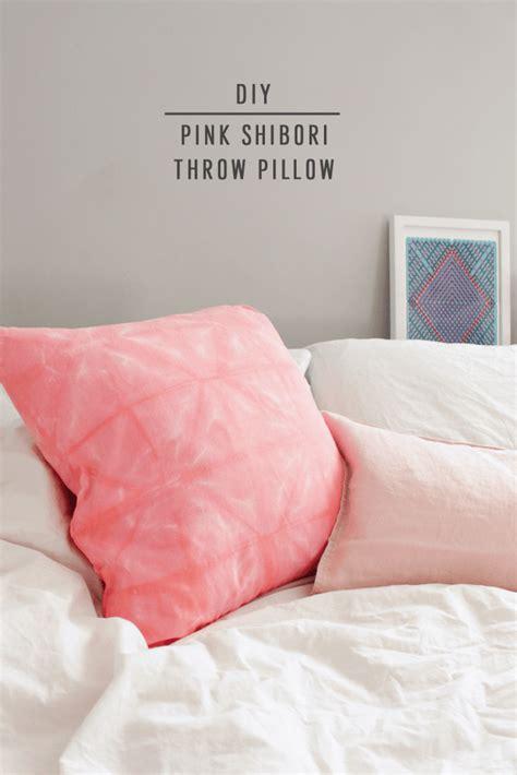 DIY Pink Shibori Throw Pillow Sugar Cloth Home Decor DIY