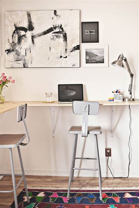 DIY Project Ideas Wall Mounted Tables for Every Room in