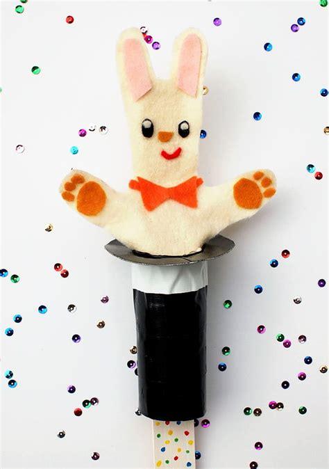 DIY Rabbit In The Hat Pop Up Puppet Handmade Charlotte