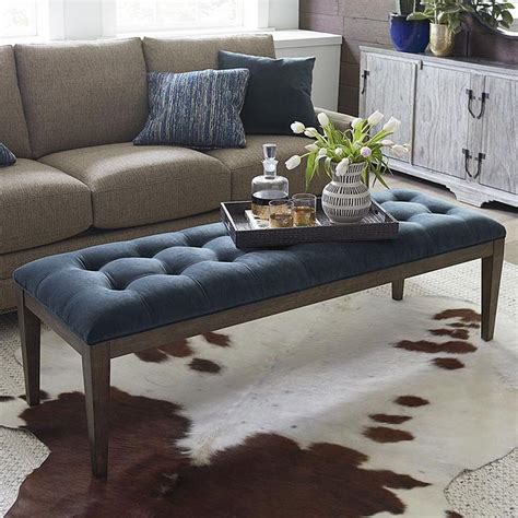 DIY Tufted Ottoman from a Coffee Table Love Pomegranate