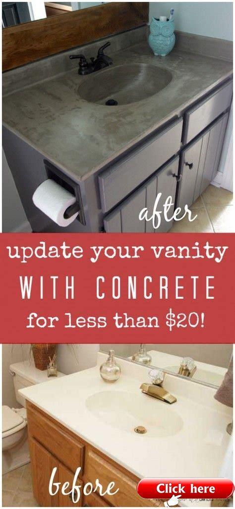 DIY Vanity Makeover using Concrete Overlay