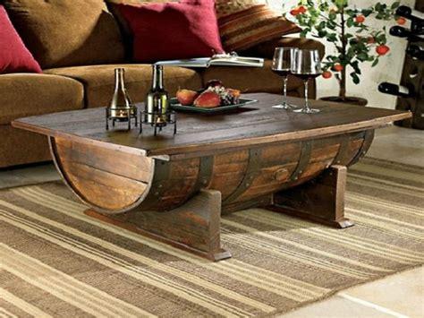 DIY Whiskey Barrel Coffee Table Wonderful DIY Ideas and
