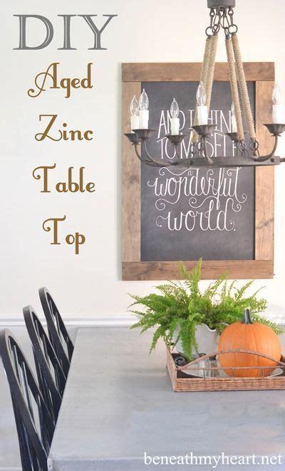 DIY Zinc Top Kitchen Table Beneath My Heart