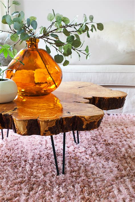 DIY live edge coffee table A Beautiful Mess